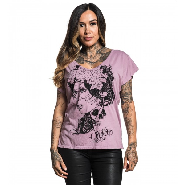 T-SHIRT SULLEN ART FEMME DARK NUVO TOP