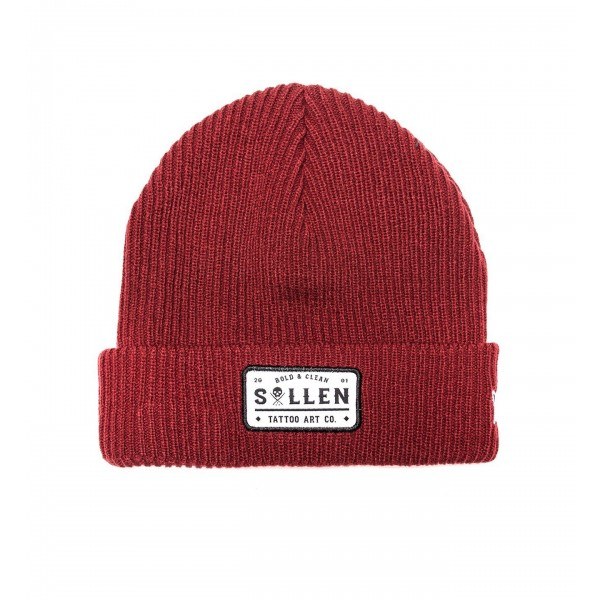 BOLD AND CLEAN BEANIE Red
