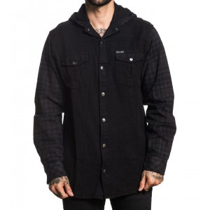 OPEN ROAD HOODED FLANNEL