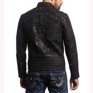 BLOUSON EN CUIR AFFLICTION MIDNIGHT HOUR