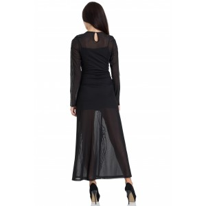 Black Hearted Veins Maxi Dress