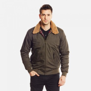 BLOUSON HARRINGTON PILOTE KAKI