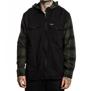 WRANGLER HOODED FLANNEL