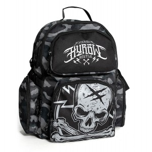 SAC A DOS BADGE CAMO GRIS