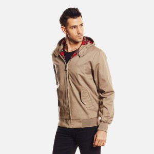 VESTE HARRINGTON A CAPUCHE