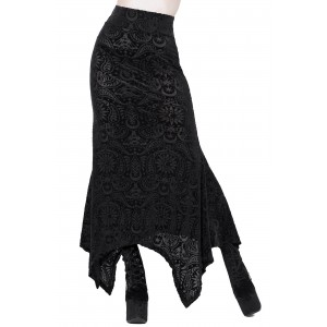 GENESIS BURNOUT MAXI SKIRT