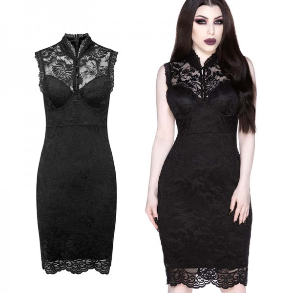 LACED UP BODYCON DRESS