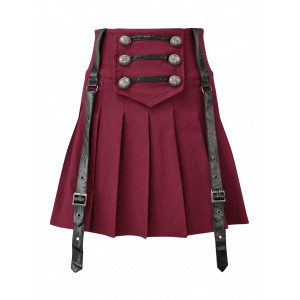 DARK ACADEMY MINI SKIRT (BLOOD)