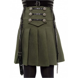 DARK ACADEMY MINI SKIRT (KAKI)