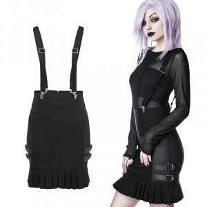 SYNTH SUSPENDER SKIRT