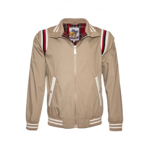 BLOUSON HARRINGTON BOWLING BEIGE