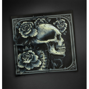HOUSSE DE COUSSIN SKULL AND ROSES