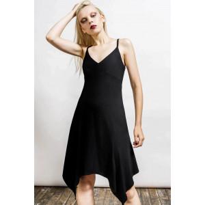 REST HER SOUL LOUNGE DRESS (BLACK)